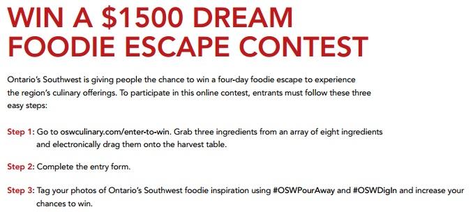 The Foodie Escape Contest